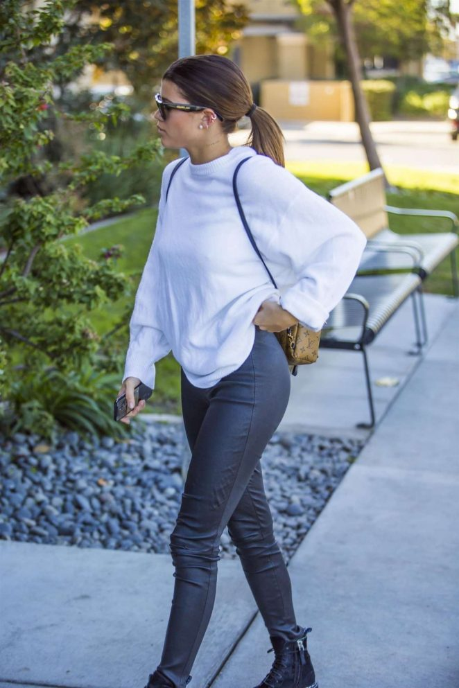 Sofia Richie in Leather out in Agora Hills
