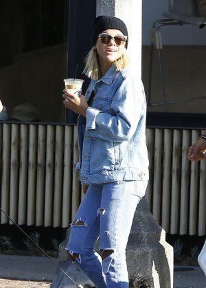 Sofia Richie in Ripped Jeans in LA
