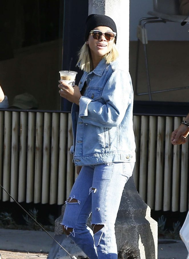 Sofia Richie in Ripped Jeans in LA