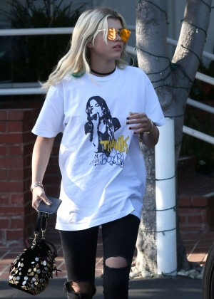 Sofia Richie in Ripped Jeans out in West Hollywood