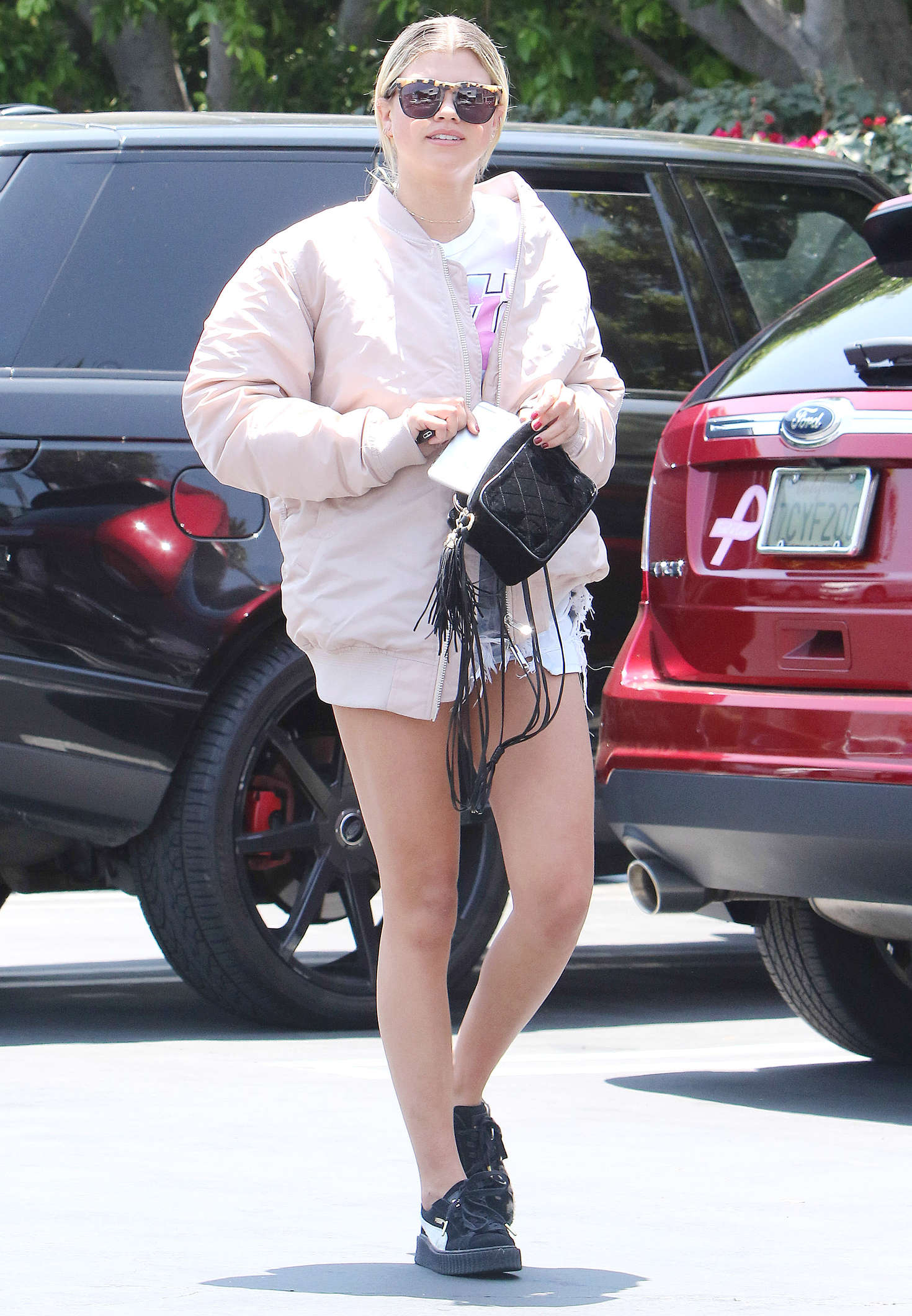 Sofia Richie in Shorts at Fred Segal in West Hollywood