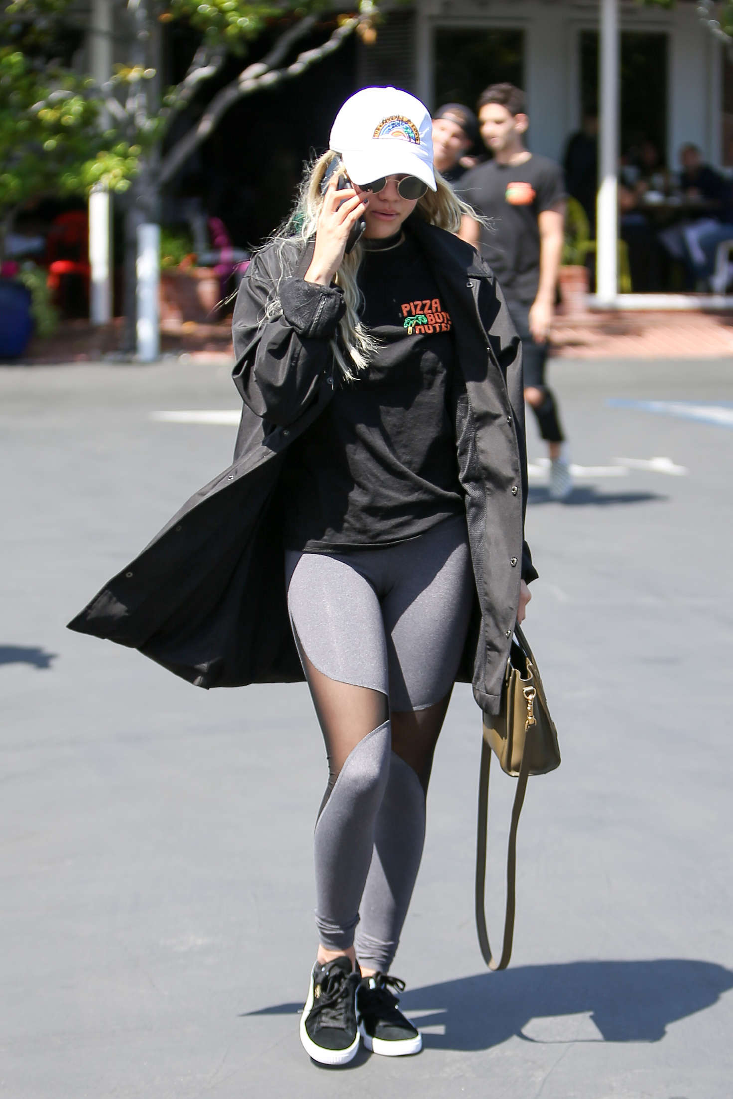 Sofia Richie in Tights at Fred Segal in West Hollywood