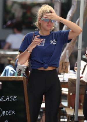 Sofia Richie in Tights Out for Lunch in West Hollywood