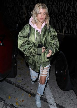 Sofia Richie - Leaves Craig's in West Holywood