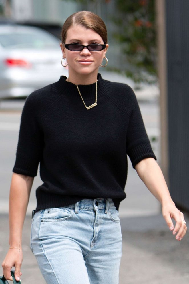 Sofia Richie - Leaves Zimmermann Boutique in LA