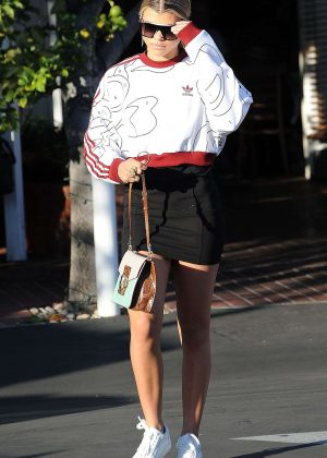 Sofia Richie - Leaving Fred Seagal in West Hollywood