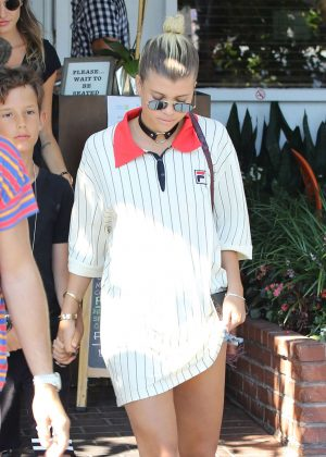Sofia Richie - Leaving Mauro's Restaurant in West Hollywood