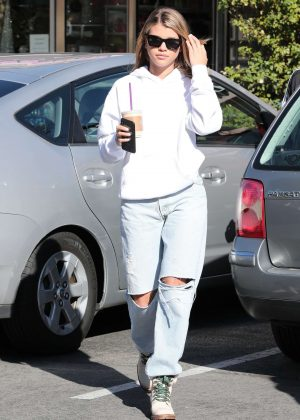 Sofia Richie - Out for coffee in Woodland Hills