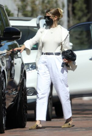 Sofia Richie - Out in a classy white ensemble at Neiman Marcus in Beverly Hills