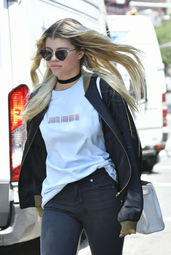 Sofia Richie out in New York