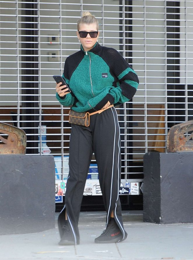Sofia Richie out shopping at Supreme in Los Angeles