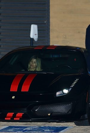 Sofia Richie - Seen with a mystery man while leaving dinner in Malibu
