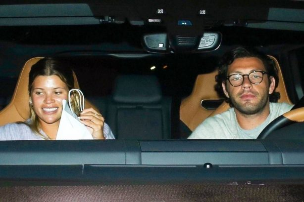 Sofia Richie - Spotted in car with a new mystery man in Los Angeles