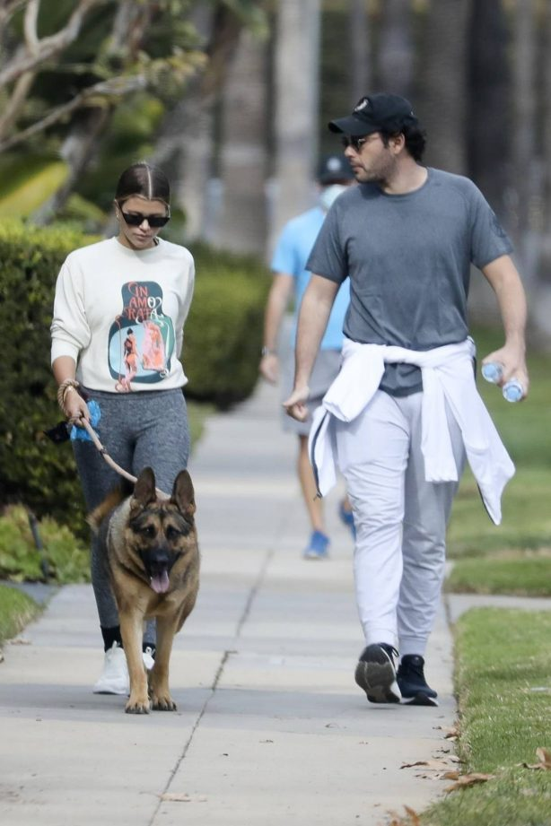 Sofia Richie - Spotted while walks her dog with a friend in Beverly Hills