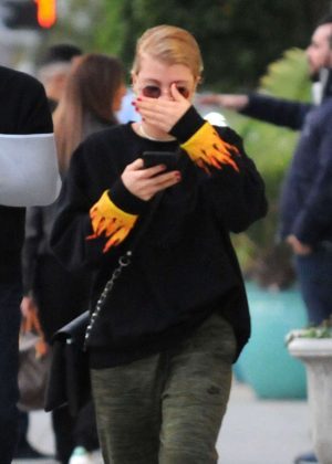 Sofia Richie - Stops by a hair salon in Beverly Hills