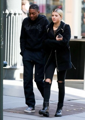 Sofia Richie with a friend out in Soho
