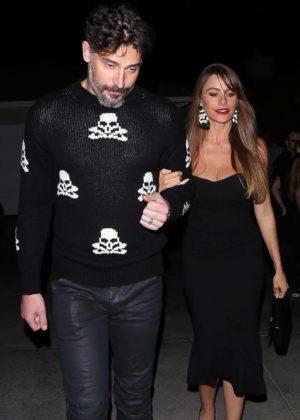 Sofia Vergara and Joe Manganiello - Arrives at Jennifer Klein's Holiday Party in Brentwood