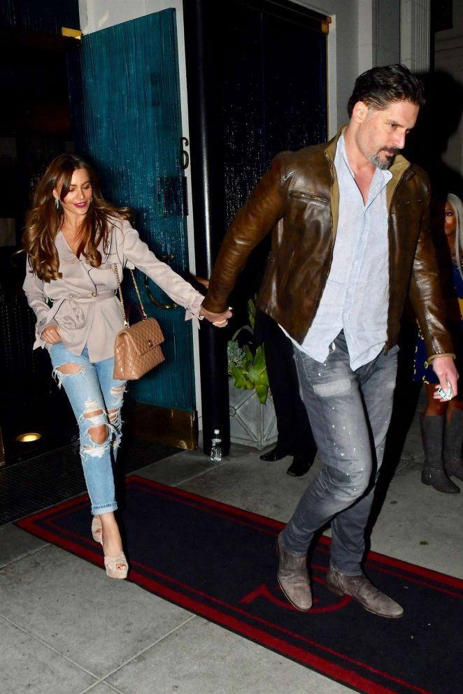 Sofia Vergara and Joe Manganiello - Leaving Mastro's in Beverly Hills