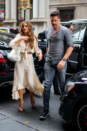 Sofia Vergara and Joe Manganiello - Outside Avra Restaurant in New York