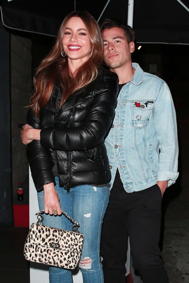 Sofia Vergara and son Manolo Gonzalez Vergara – Out in West Hollywood
