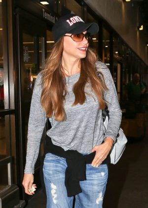 Sofia Vergara Arrives at LAX in Los Angeles