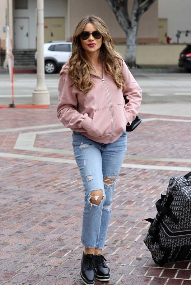 Sofia Vergara - Arriving at America's Got Talent in Pasadena