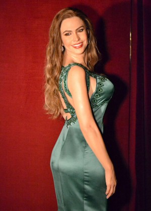 Sofia Vergara at the Wax Museum in Madrid