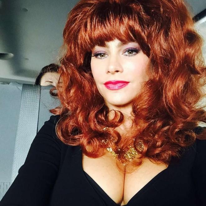 Sofia Vergara Dressed as Peggy Bundy - Instagram