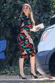 Sofia Vergara - Film scenes for the final season of 'Modern Family' in LA