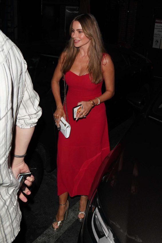 Sofia Vergara 2019 : Sofia Vergara in Red Dress-10