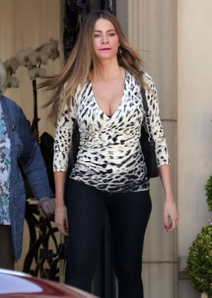Sofia Vergara in Tights on 'Modern Family' set in LA