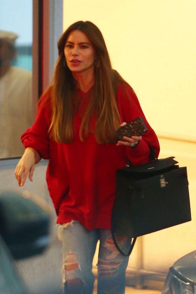 Sofia Vergara - Leaves E Baldi in Beverly Hills