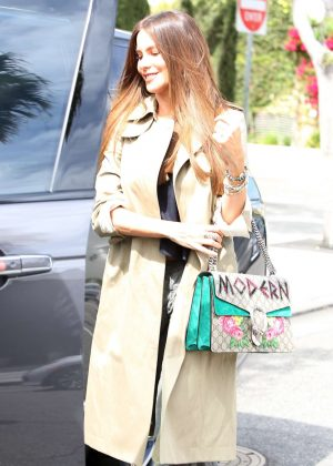 Sofia Vergara Leaves Il Pastaio in Beverly Hills