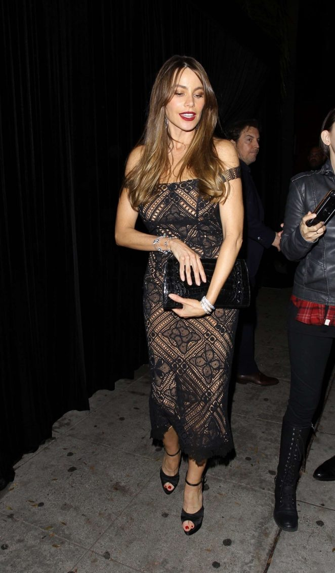 Sofia Vergara - Leaving the Delilah club in West Hollywood