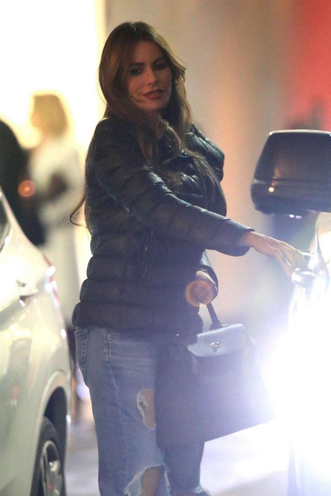 Sofia Vergara – Leaving the E Baldi Restaurant in Beverly Hills