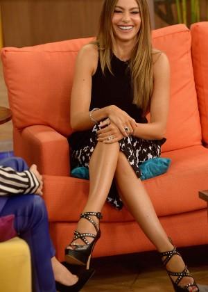 """Sofia Vergara on the set of """"Despierta America"""" in Miami"""