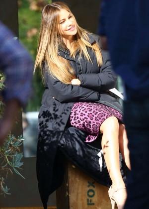 "Sofia Vergara - On the set of ""Modern Family"" in Brentwood"
