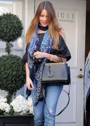 Sofia Vergara - Visits Epione Skin Care Center in Beverly Hills