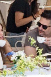 Sofia Vergara with her husband Joe Manganiello on holiday in the Amalfi Coast