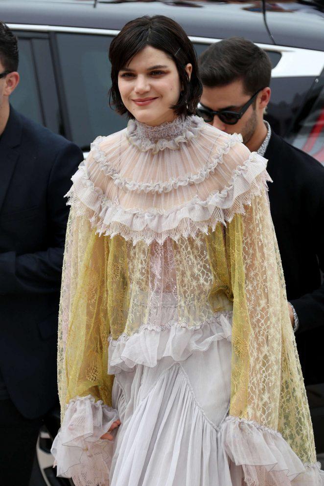 Soko - Arrives at Palais des Festivals at 69th Cannes Film Festival