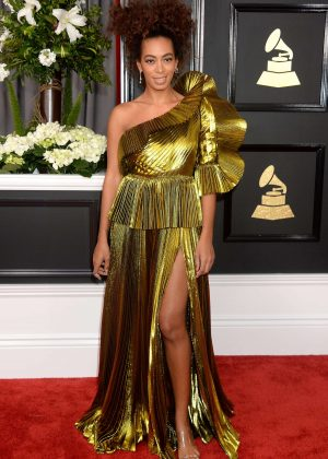 Solange Knowles - 59th GRAMMY Awards in Los Angeles
