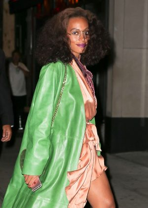Solange Knowles - Arrives at Beyonce's Birthday Party in New York