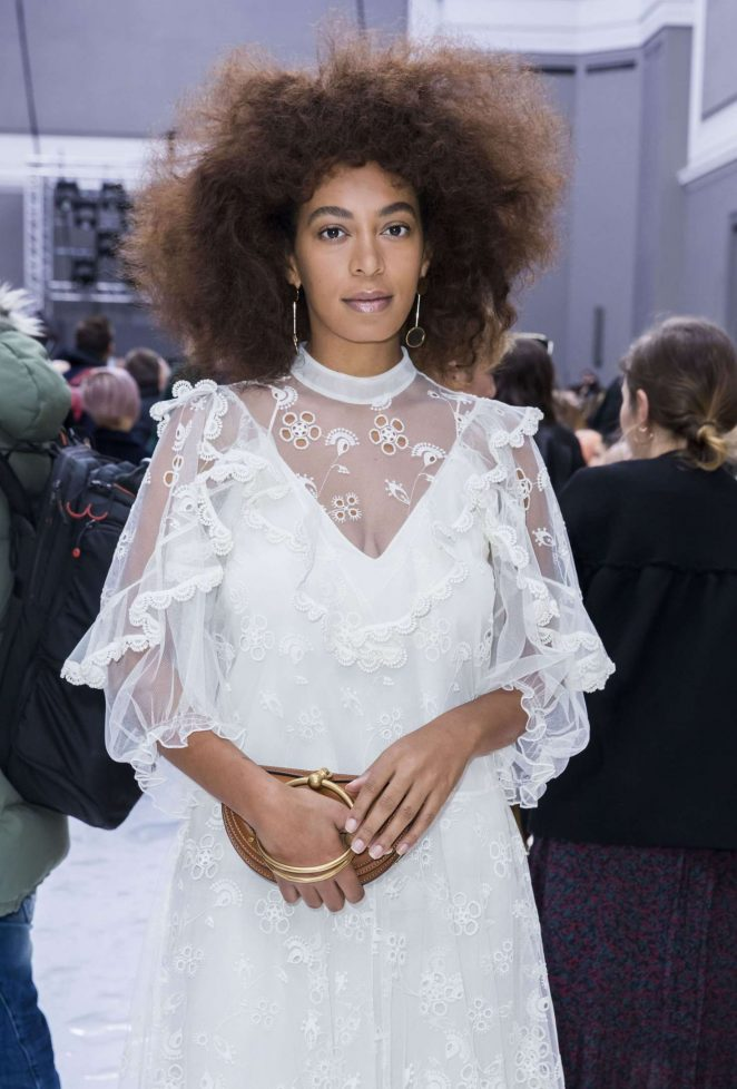 Solange Knowles at Chloe Show in Paris