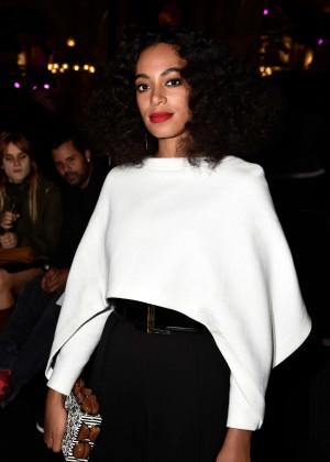 Solange Knowles - Balmain Fashion Show 2015 in Paris