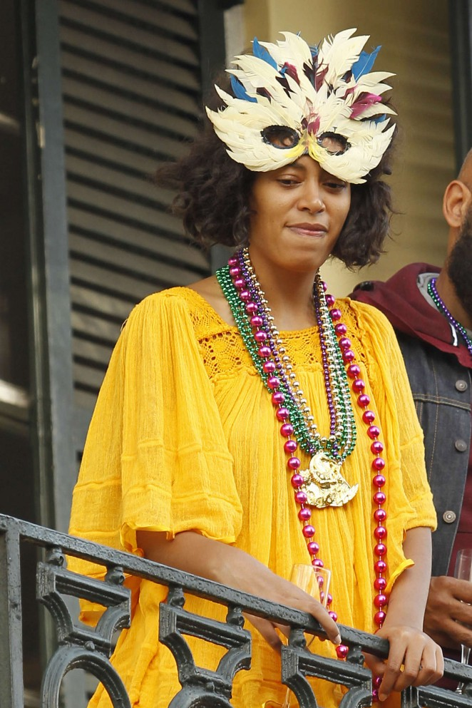 Solange Knowles out in New Orleans