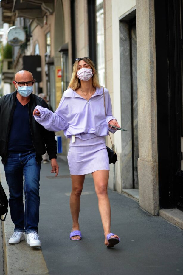 Soleil Sorge - Lunch candids with Gianni Occhionero in Milan