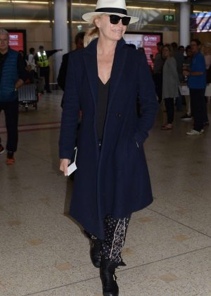 Sonia Kruger - Arrives at Airport in Sydney