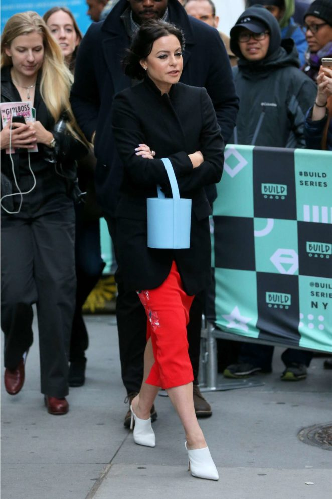 Sophia Amoruso - Leaves AOL Build Series in New York City
