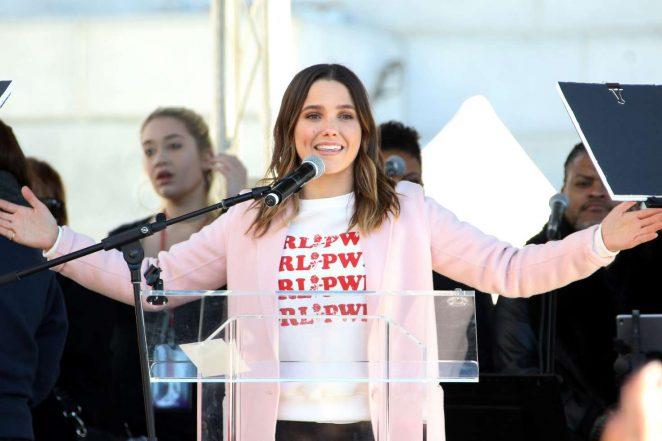Sophia Bush - 2018 Women's March in Los Angeles
