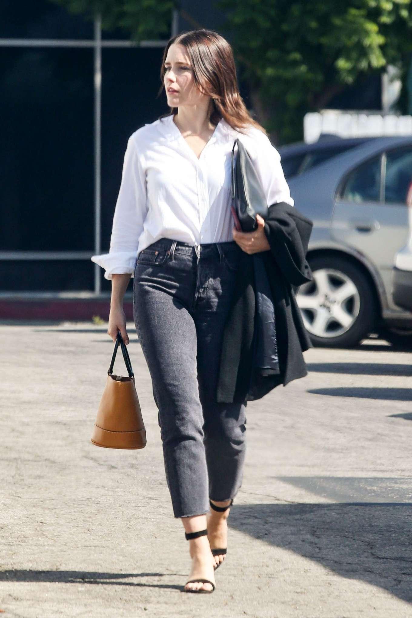 Sophia Bush - Exits a business meeting in LA